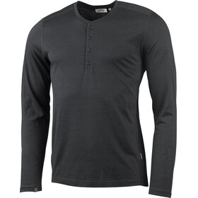 Lundhags M's Merino Light LS Henley Shirt Grey Melange